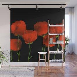 Poppy dance Wall Mural