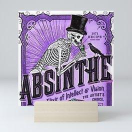 Vintage 1871 Purple Absinthe Liquor Skeleton Elixir Aperitif Cocktail Alcohol Advertisement Poster Mini Art Print