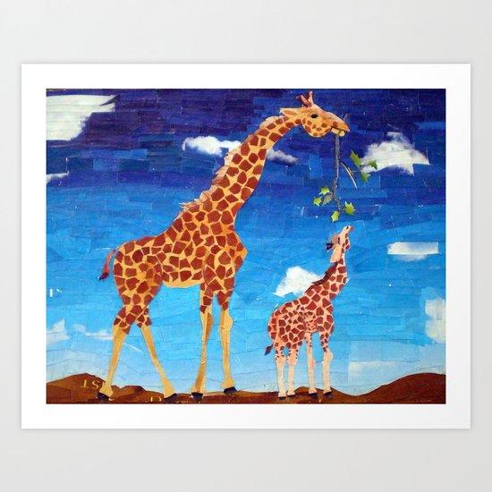 G is for Giraffe Art Print