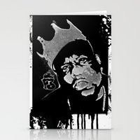 biggie smalls Stationery Cards featuring Biggie by Factory Three