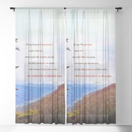 High Places Sheer Curtain