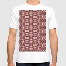 pttrn5 White MEDIUM Mens Fitted Tee