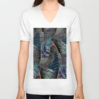 architect V-neck T-shirts featuring the delusional architect by David  Gough