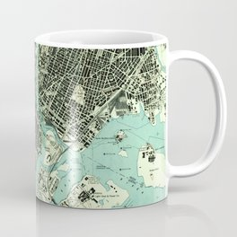Vintage Central Park & Bronx NY Map (1947) Coffee Mug