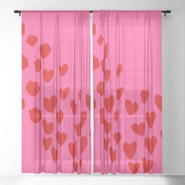 KisseS and HeartS Sheer Curtain