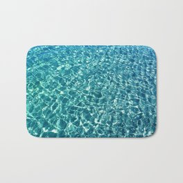 Clear water blue Bath Mat