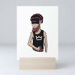 Goat v4 Mini Art Print