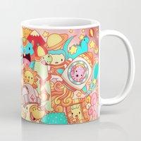 kpop Mugs featuring Wackoblast! by Sillyrabs