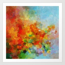 Abstract and Minimalist Landscape Painting Art Print