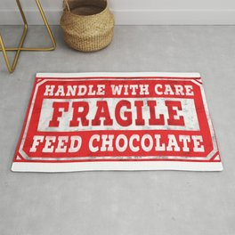 FRAGILE -  Handle With Care - Feed Chocolate Rug