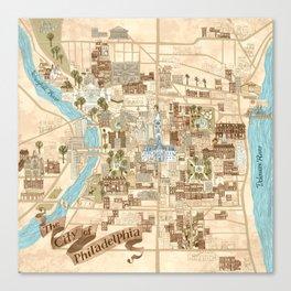 The City of Philadelphia Canvas Print
