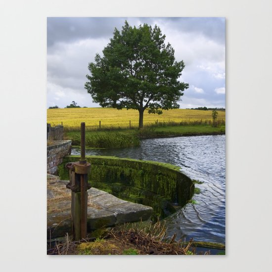End of the lake Canvas Print