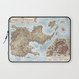 Belthennia - a map of its Independent Territories Laptop Sleeve