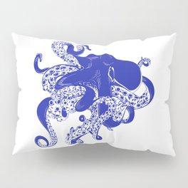 Blue Octopus Pillow Sham