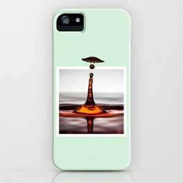 Droplet explosion with 3D pop out of frame effect iPhone Case