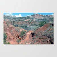 palo alto Canvas Prints featuring Palo Duro Canyon by deleas