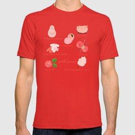 Colors: pink (Los colores: rosa) T-shirt