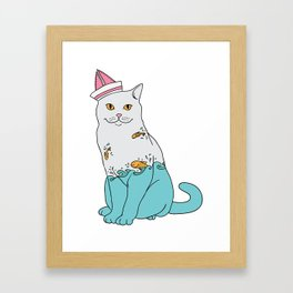 Inside Kitty Framed Art Print