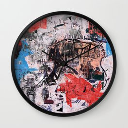 Basquiat Style Wall Clock