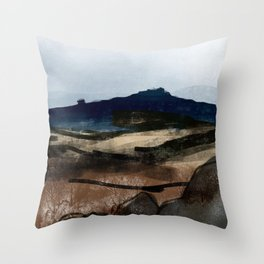 Hathersage Moor, Peak District Throw Pillow