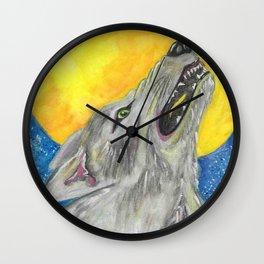 Howlin' wolf Wall Clock