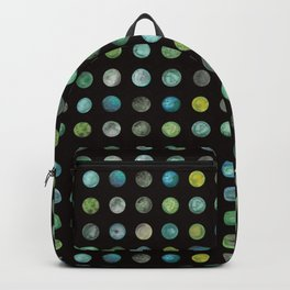 Green Marble Dots Backpack
