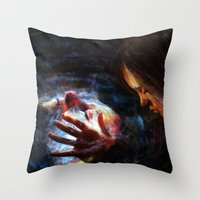 x men Throw Pillows featuring X men by Luca Leona