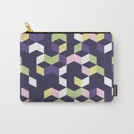 Floral Fantasies Chevron Carry-All Pouch