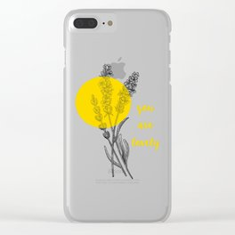 you are lovely! Clear iPhone Case