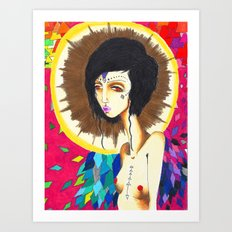 Geometric Madonna  Art Print