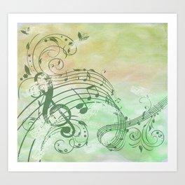 Music Notes Flutter 3 Art Print