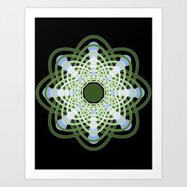 Spheres of Congruence (Black Light Version) Art Print