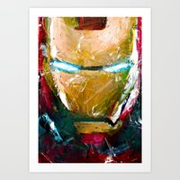 ironman Art Prints featuring IRONMAN by DITO SUGITO
