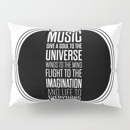 Lab No. 4 - Plato philosopher Inspirational Music Quotes  poster Pillow Sham