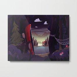 Camp Beaver (Night) Metal Print