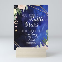 Rattle the stars with roses Mini Art Print