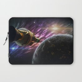 Space travel around planet Laptop Sleeve