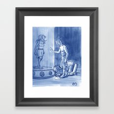 Victor and Nora, Mr. Freeze's Heart of Ice Framed Art Print