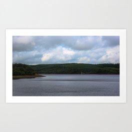Usk Reservoir Art Print