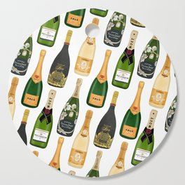 Champagne Bottles Cutting Board