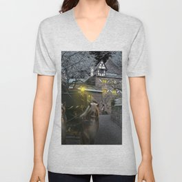 Historically Charged Bran Castle Transylvania Romania Horse And Carriage Ultra HD Unisex V-Neck