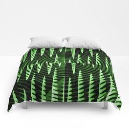 Green Waves Comforters