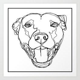Staffy Head Art Print