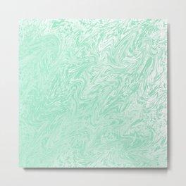 Green Watercolor Metal Print