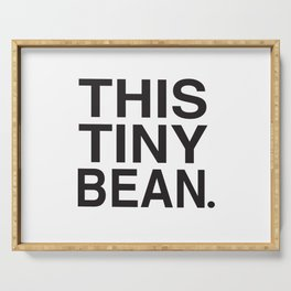 This Tiny Bean Logo Serving Tray