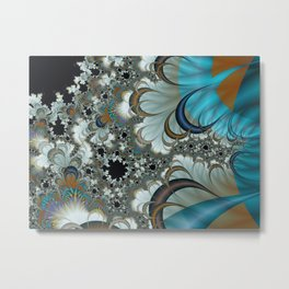 Snow Moons Fractal Metal Print