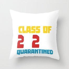 Senior class of 2020 quarantined Throw Pillow
