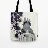 madrid Tote Bags featuring Madrid by Valkyries