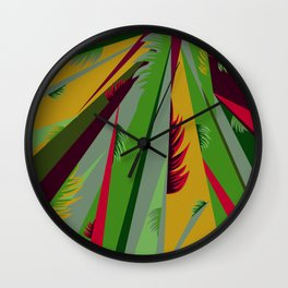 With Leaves Wall Clock
