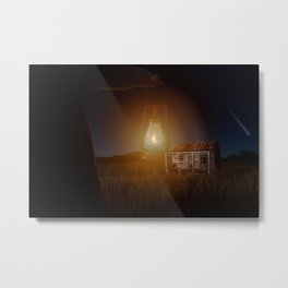 The hut in the meadow by GEN Z Metal Print